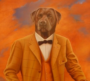 Arno, portrait of Labrador oil painting on canvas