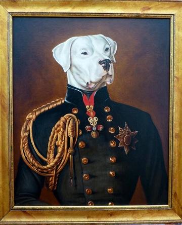 Venta de pintura Dogo en traje de gala
