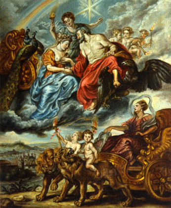 Encuentro del Rey y María de Médicis