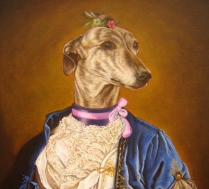 Juana, portrait of Galga oil painting on canvas