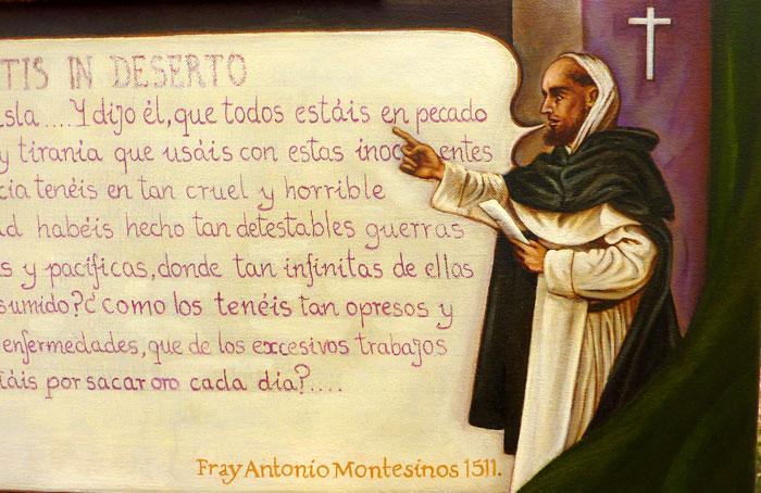 Retrato imaginario de Fray Bartolomé de Las Casas y de Fray Antonio Montesinos. (detalle)