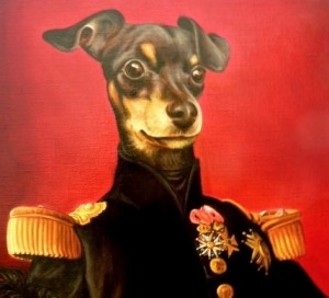 Smit, portrait of  Pinscher  oil painting on canvas