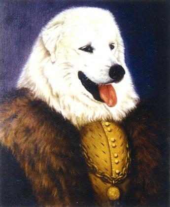 chomsky retrato perro pastor vasco oleo epoca