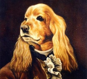 Piter, portrait of  Cocker oil painting on canvas
