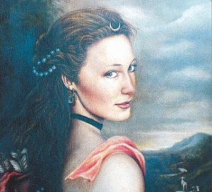 Diana Widmaier Picasso´s portrait as Diana the huntress