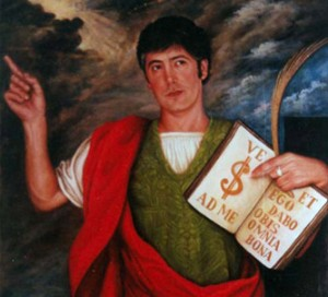 Eduardo Gonzalez´s portrait as San Pancracio