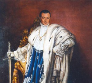 Michel David´s portrait as king Luis II os Baviera
