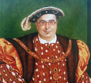 Pablo Matute´s portrait as king Enrique VIII