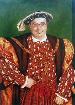 retrato epoca Pablo Matute en Enrique VIII