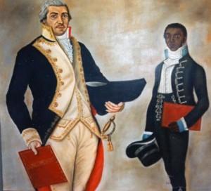 Retrato de José Antonio Campos y ayudante
