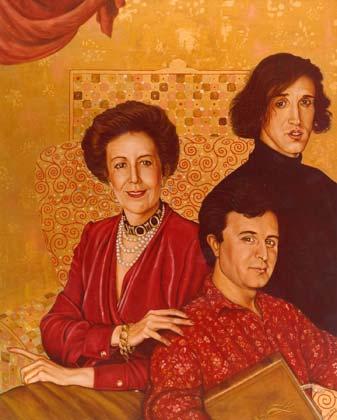 retratos su obra Angela Hormaeche e hijos