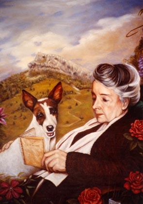 simone arduser retrato amo con perro