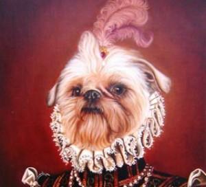 Sofía, portrait de Griffon bruxellois peint à l´huile