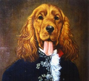 Whisky, portrait of Cocker oil painting on canvas