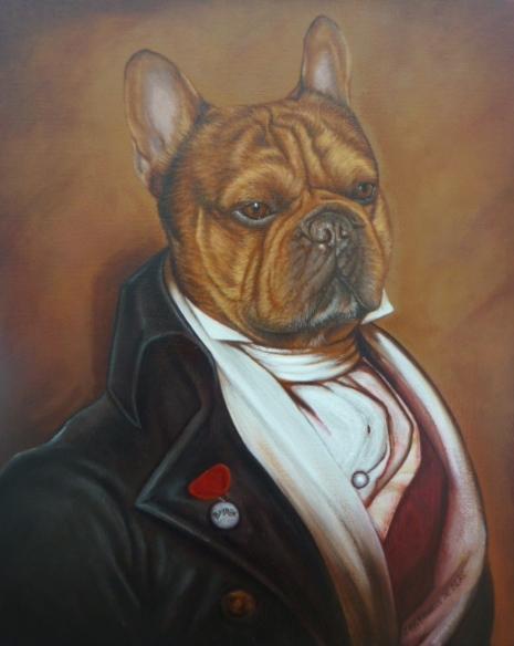 Bayron retrato de bulldog frances