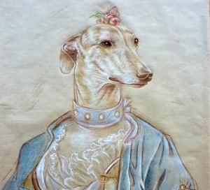 Estudio de Galga. Juana en traje S. XVIII