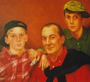Retrato de Francisco Benito e hijos