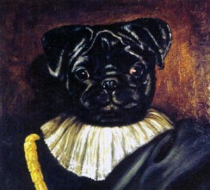 Deigo, portrait of French Bulldog oil painting on canvas