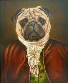 retrato en venta perro Carlino