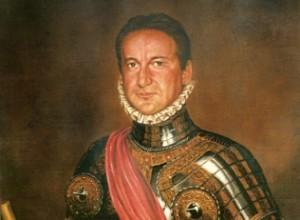 Alberto Marín con armadura de Juan de Austria