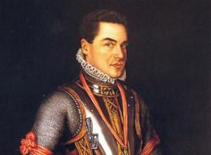 Retrato de José Luis G. Sainz con armadura de Felipe II