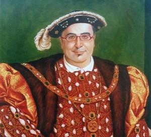 Retrato de Pablo Matute con traje de Enrique VIII