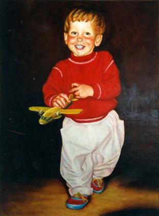 Retrato niño con avión