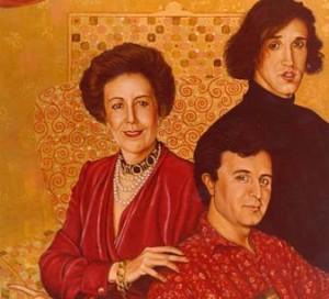 Ángela Hormaeche e hijos