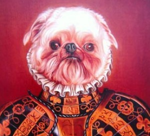Simon, portrait of a Brussels Griffon